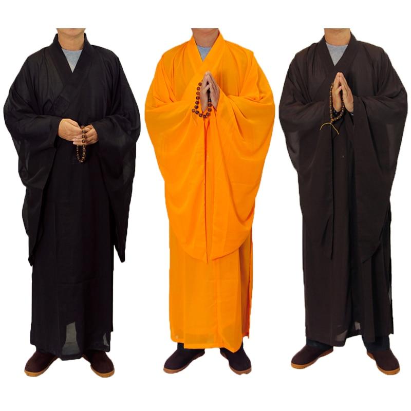 5 Colors Zen Buddhist Robe Lay Monk Meditation Gown Monk Training Uniform Suit Lay Buddhist Clothes Set