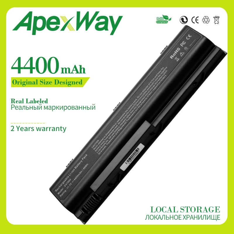Apexway 6 celdas batería para Compaq Presario C300 C500 M2000 M2000Z M2100...