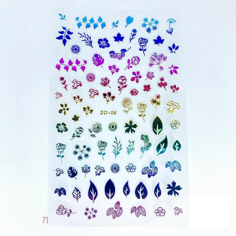 Nail art design stickers nail foil transfer film laser Transparent Base Fireworks Nail Design Foil 100*4cm GL648