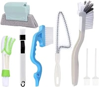 8 piece hand held slot cleaning tool window and sliding door guide cleaning brush car vent and keyboard cleaning brush