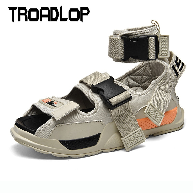 Troadlop Ankle Buckle Strap Men's Sandals Summer Beach Shoes Gladiator Sandals