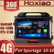 Автомобильный мультимедийный проигрыватель, 6 ГБ + 128 Гб, Android 10, 360 дюймов, с панорамной крышей, IPS, радио, мультимедийным видеоплеером, 2 din, GPS навигацией для KIA Sportage 3 2011 2016