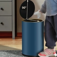 simple creative trash can stainless steel luxury trash can with cover bedroom kitchen kosz na smieci household products df50lj