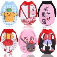 dog clothes for small dogs cartoons printed soft pet dog sweater clothing for dog winter chihuahua clothes warm pet outfit