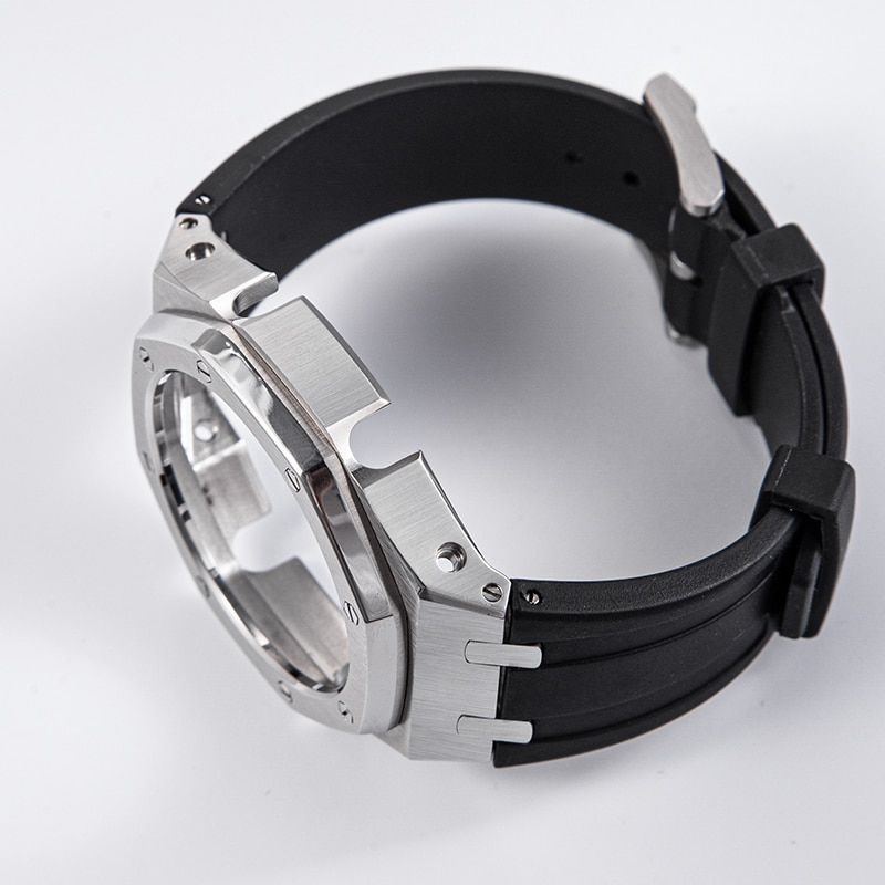 GA2100 Rubber Watch Band Strap Metal Bezel 3rd One-Piece Replacement Accessories for Casio G-Shock GA-2100/GA-2110 enlarge