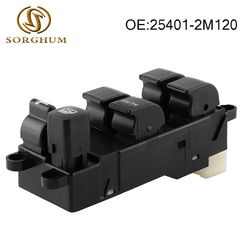 Interruptor de ventanilla principal eléctrico 25401-2M120, compatible con Nissan Sunny/Navara/accesorios para coches...