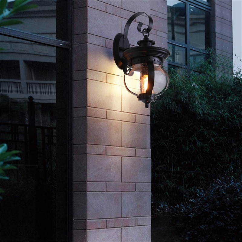 Hongcui Outdoor Retro Wall Light Classical Sconces Lamp Waterproof IP65 LED For Home Porch Villa enlarge