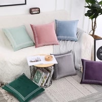 solid color light luxury lattice wind pillow set of dutch cashmere solid color sofa decorative cushion cover pillow cover