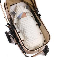 Baby Schlafsäcke Umschläge für Neugeborenen Kinderwagen Herbst Gestrickte Infantil Bebes Swaddle Sleep Entladung Kokon Cartoon Fuchs