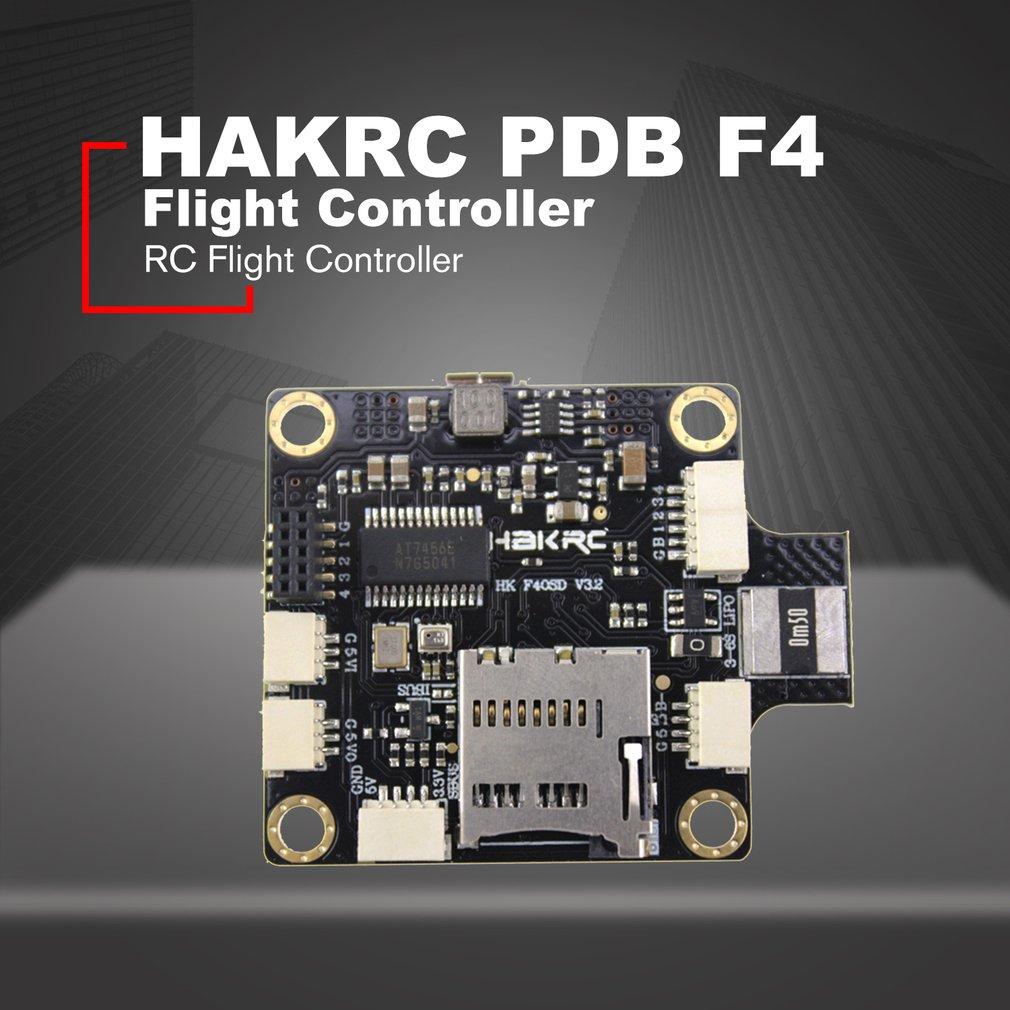 HAKRC PDB F4 controlador de vuelo 2-4S integrado Betaflight OSD para RC Drone FPV accesorios de carreras