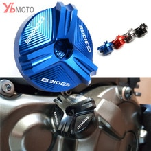 Para bmw s1000r s1000rr s1000xr hp4 corrida g450x g310r g310gs acessórios da motocicleta do motor de drenagem óleo plug cárter porca copo plug capa
