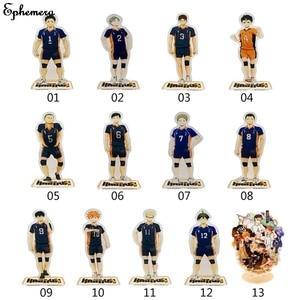 Cartoon Anime Volleyball Teenager Stand Haikyuu Hinata Acrylic Stand Figure Model Anime Accessories