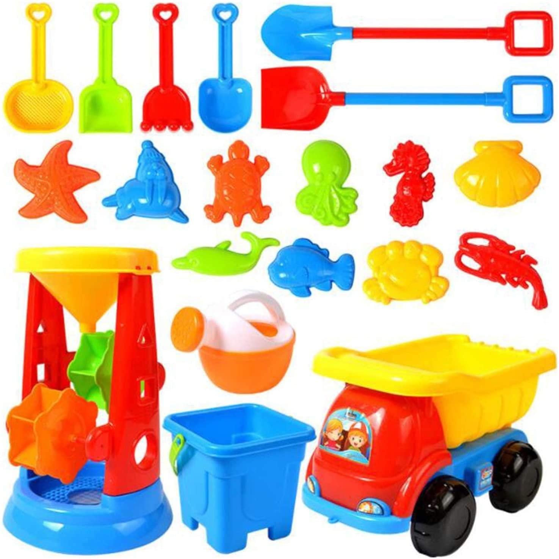 Пляжная игрушка, 20 шт., детские пляжные игрушки, набор искусственных игрушек, многоразовые игрушки с песком, игрушки для детей с ЛАПКОЙ, авто...