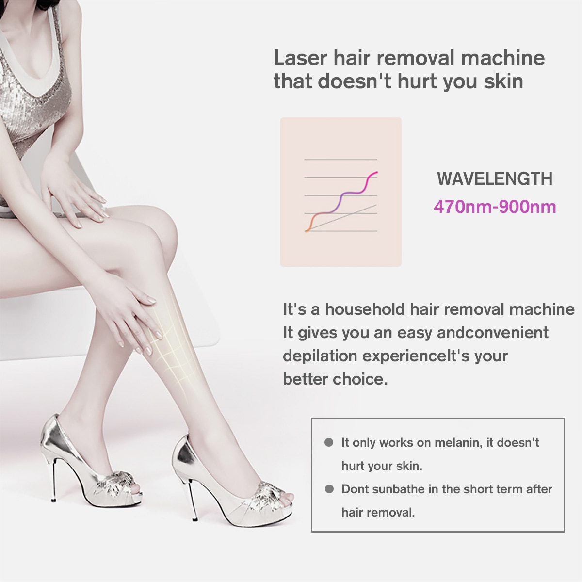 3 color 5 Levels 999999 Flash 3 in 1 IPL female Hair Removal Laser Epilator Permanent Home Electric Painless Hair Removal Device enlarge