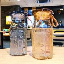 Carré bouteille deau originalité Transparent Portable boisson en plein air Sport voyage tasses en plastique sceller le cristal