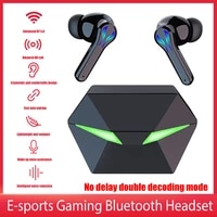 yx01 tws wireless earphones with charge case bluetooth 5 0 dual mode stereo sound gaming headset for phone