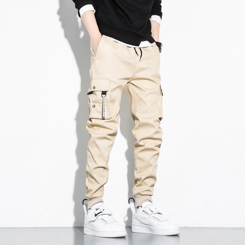 Новинка осени 2021, мужские Модные брендовые свободные облегающие брюки, модные брюки в Корейском стиле, повседневные мужские брюки