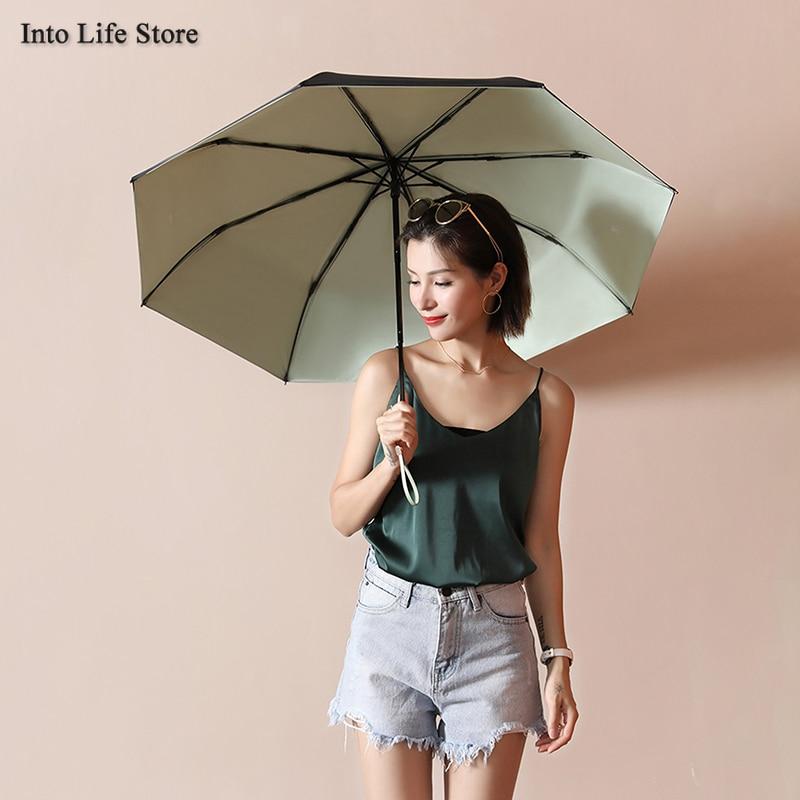 Clear Sun Umbrella Beach UV Folding Retro Umbrella Rain Women Windproof Luxury Ladies Umbrellas Parasols Gift Ideas UPF50+ enlarge