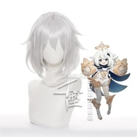 new arrival paimon wig cosplay game genshin impact props carnival party dress up
