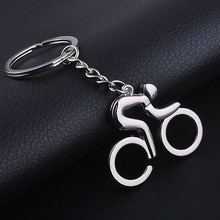 1 Pc Silber Metall Fahrrad Bike Radfahren Reiten Keychain Keyfob Schlüssel Kette Ring
