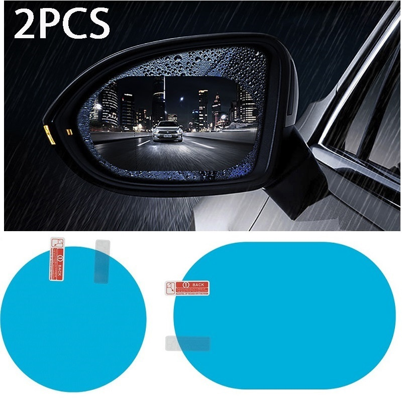 2 Pcs Car Rainproof Film Car Car Rearview Mirror protective Rain proof Anti fog Waterproof Film Membrane Car Sticker Accessories diy protective 3 layer polyurethane membrane film for car auto lamp yellow 100 x 40cm
