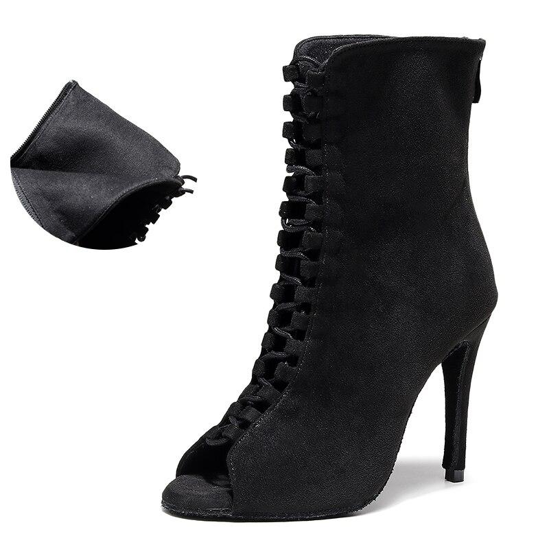 Senhora flanela sapatos de dança para a mulher alta superior ballroom latina botas de dança para meninas fundo macio sapatos de dança salsa para festa
