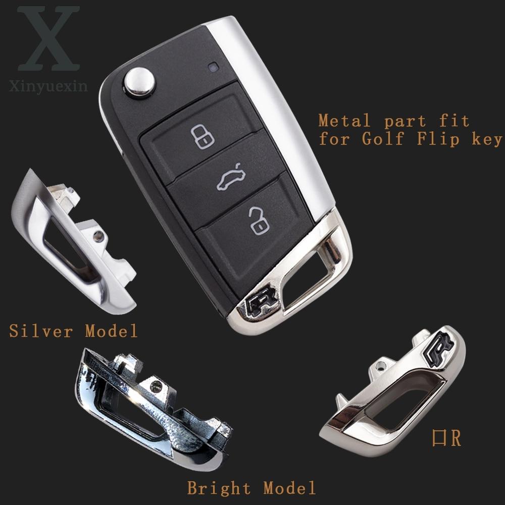 Xinyuexin-مفتاح التحكم عن بعد للسيارة ، جزء مفتاح معدني مع شعار R لـ vw golf 7 ، vw MK7 ، skoda octavia A7 ، للمقعد