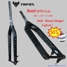 TRIFOX horquilla vtt 29/27.5 boost fourche Suspension carbone fourche boost conique frein à disque 110*15 à travers essieu fourches UD VTT