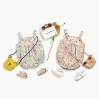 liligirl baby girls summer sleeveless bodysuits cotton baby clothes floral princess toddler clothing summer