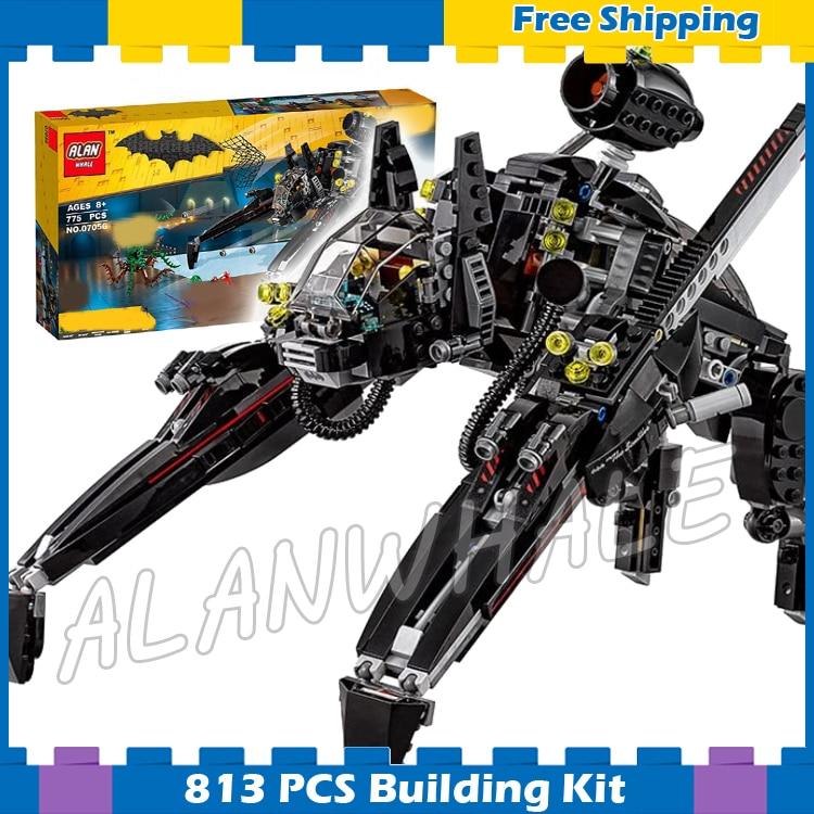 813 piezas superhéroes Batman película el escurridor hiedra venenosa 10635 modelos bloques de construcción ensamblan juegos de regalos compatibles con Lego