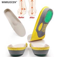 WINRUOCEN soletta plantare in PVC per piede piatto per fascite plantare piedi uomo donna cura Sport solette da corsa inserto imbottito