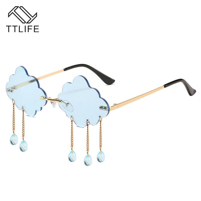 TTLIFE Women Sunglasses 2020 Cloud Rimless Vintage Sunglasses Sun Glasses for women Frameless Glasse