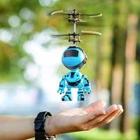 Интеллектуальный робот с ручным датчиком, летающий робот, детские игрушки, электронный самолет, подвесные игрушки для детей, умный питомец, ...
