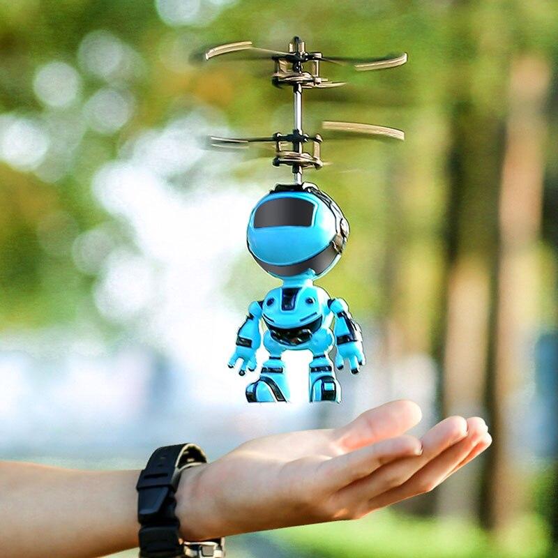 Умный робот-летающая игрушка с ручным датчиком, Детские электронные игрушки с подвеской для детей, умный робот-Радиоуправляемый с USB