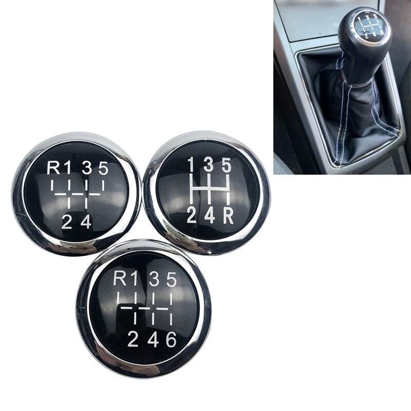 5/6 Speed perilla de palanca de cambios de coche emblema gorro distintivo cubierta superior para el OPEL ASTRA III H CORSA D 2004-2010 accesorios de diseño de coche