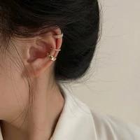 3pcsset clips earring for women unisex minimalist fashion cartilage hoop earrings sets ear cuff fake piercing clip on earring