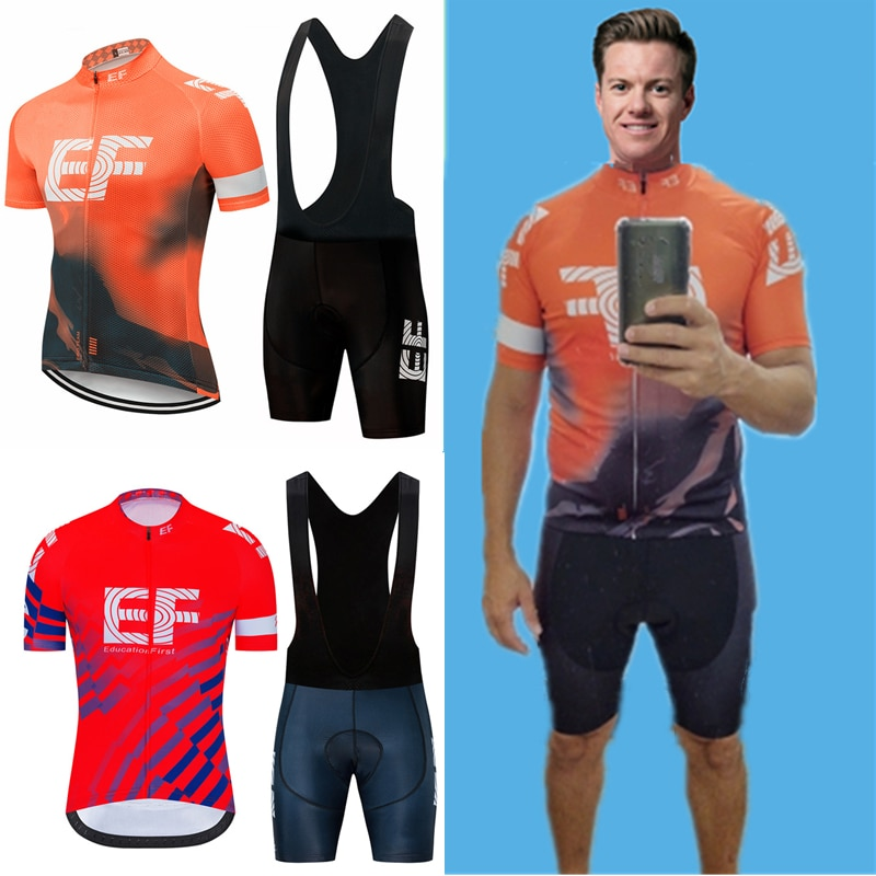 EF equipo hombres Ciclismo Jersey conjunto MTB bicicleta pantalones cortos Ropa Ciclismo...