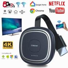 G20 Tv Stick 5G Video 4K Full Hd Wifi Display Dongle Hdmi Media Video Streamer Tv Dongle Ontvanger voor Google Chromecast Netflix