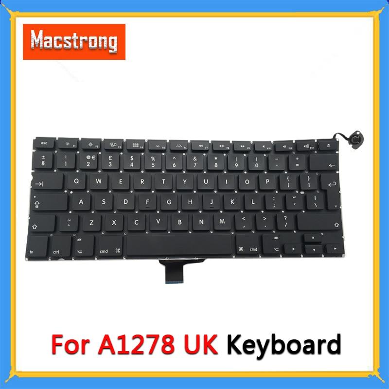 "Teclado a estrenar A1278 UK para Macbook Pro de 13 ""A1278 UK, teclado portátil sin retroiluminación 2009 2010 2011 2012"