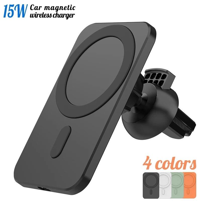 mais novo magnetico sem fio carregador de carro montar para iphone 12 pro max mini