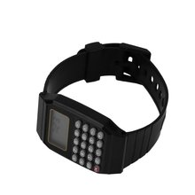 Practical Children Student Calculator Digital Sports Watch Solid Color Silicone Comfortable Wear Cal