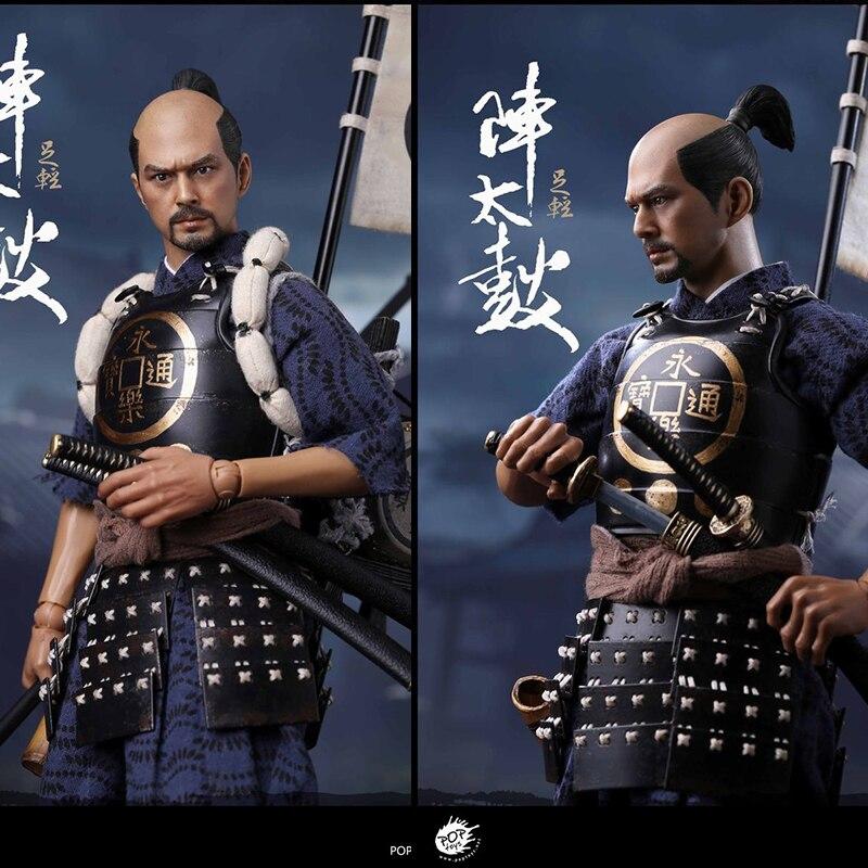 POPTOYS W09 1/6 Oda soldados de la familia Taiko tambores Samurai japonés juguetes de marionetas móviles decoraciones de colección en Stock