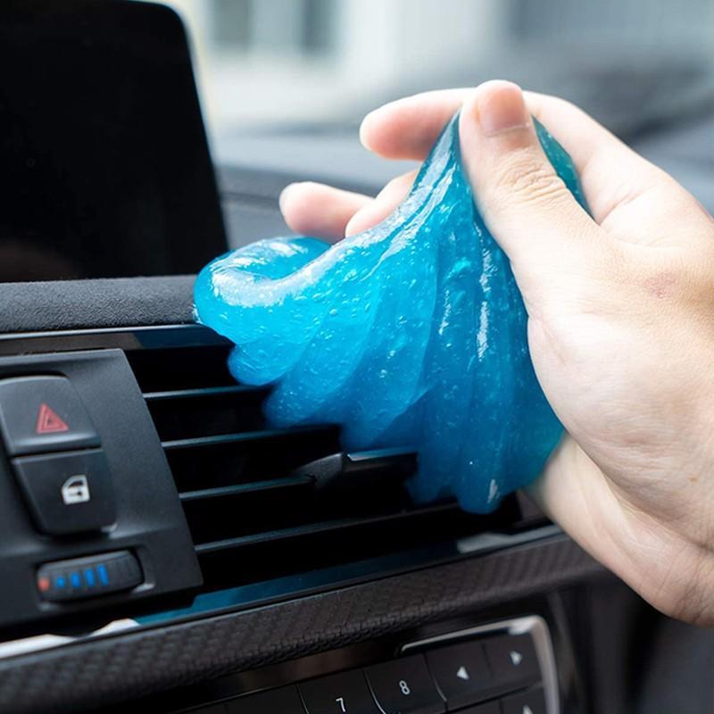 Гелевая насадка для чистки автомобиля, 60 мл, клей-пудра, волшебный очиститель, удаление пыли, инструмент для очистки клавиатуры домашнего ко...