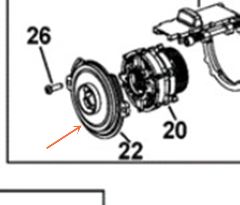 N375868 deflector NO.22 para DCD996 DCD995 DCD991 DCD990 DCD937 DCD932 DCD991