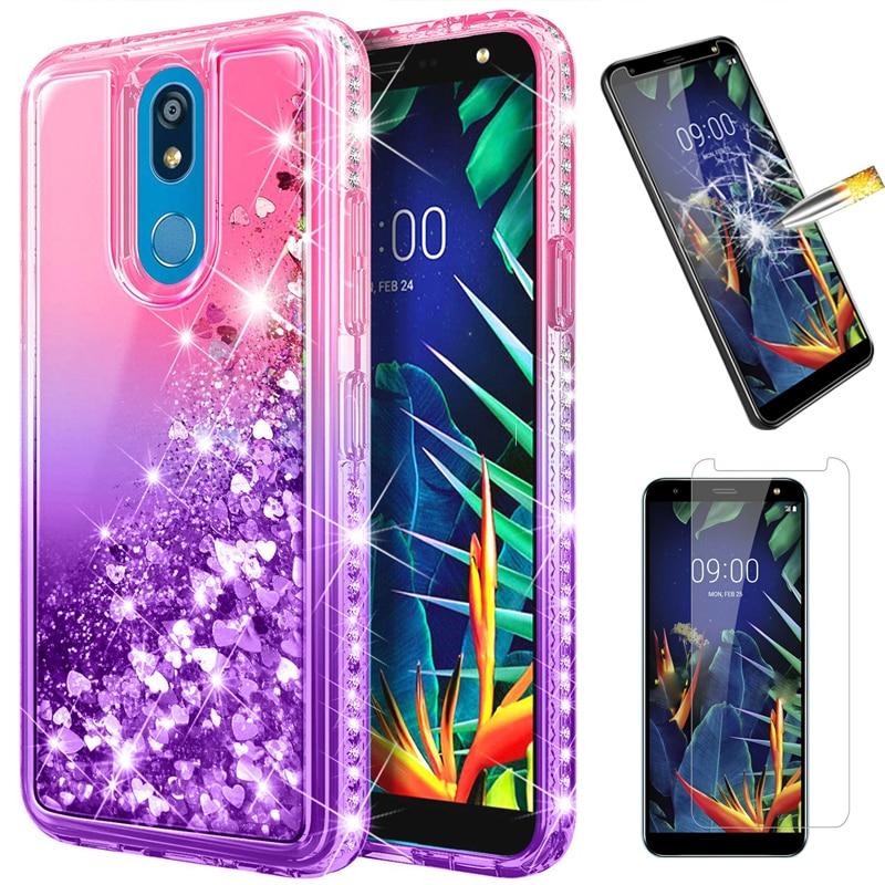 Блестящий блестящий чехол для телефона LG K40,LG K30, 2019,LG Stylo 4,Stylo 5 жидкий зыбучий песок чехол для LG Solo LTE,Stylo 5v 5x5 Plus