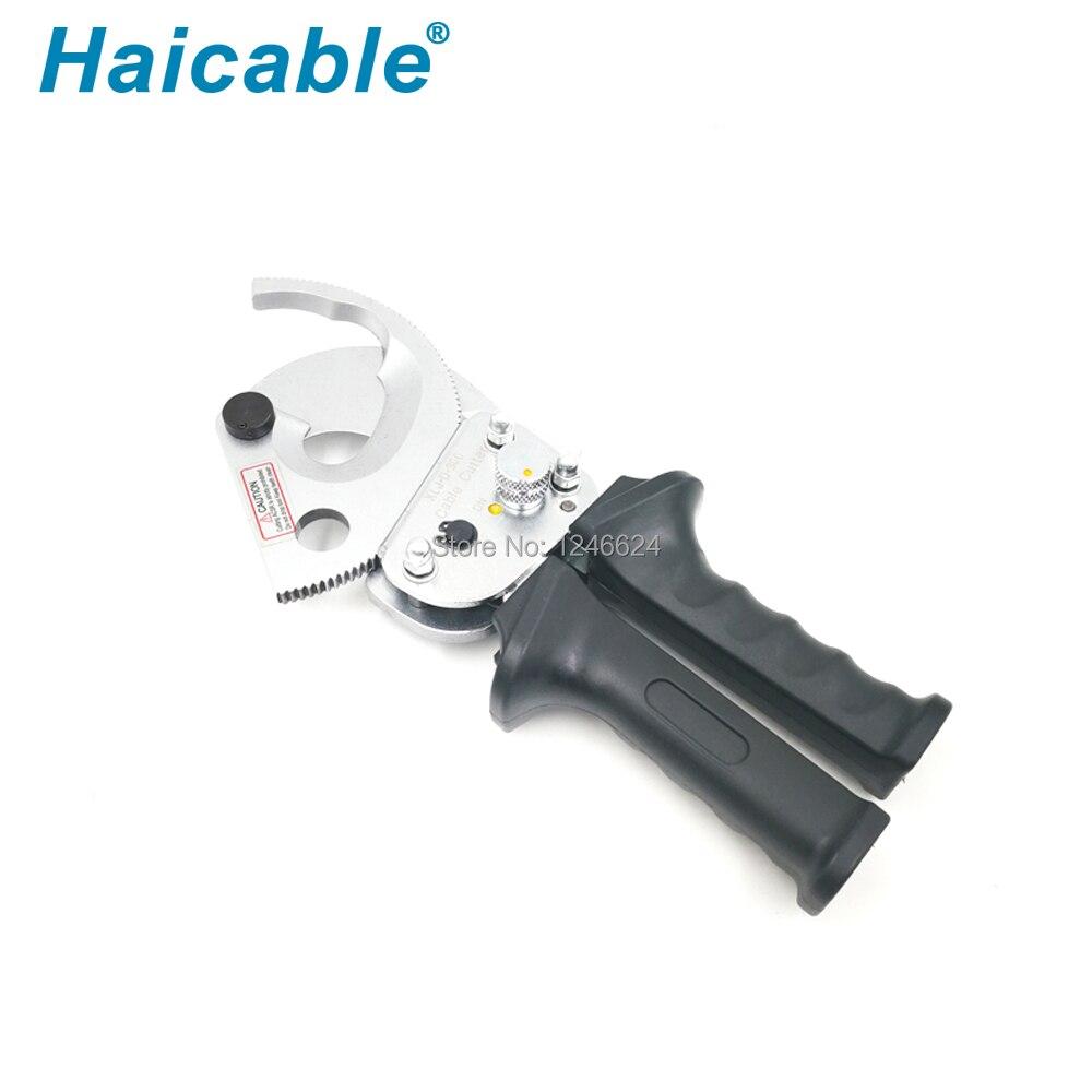 Haicable cortador Cable mecánico D-300 cortador de alambre cortador Cable trinquete para corte de cobre y aluminio Cable Max 600MCM/Dia 35mm