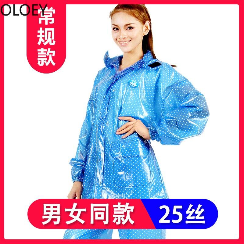 Transparent Fashion Women Raincoat Waterproof Rainstorm Motorcycle Riding Rainwear Adult Rain Jacket with Hood Rain Pants Suit enlarge