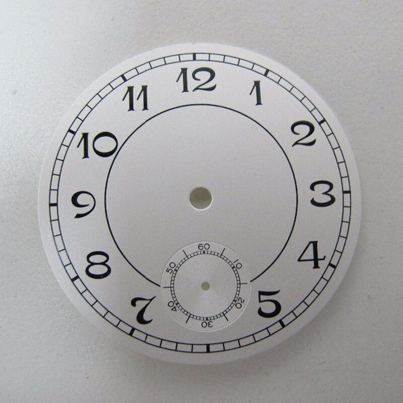 Peças de relógio dial 38.9mm branco dial ajuste unitas eta 6498 st movimento