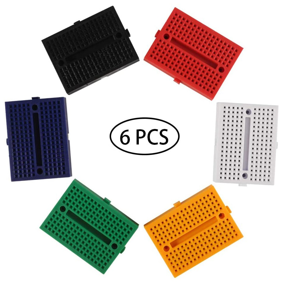 6 PCS 170 Tie Points Mini Breadboard, SYB-170 Solderless Prototype Kit PCB Bread Board for Arduino Raspberry pi Small DIY Kits недорого
