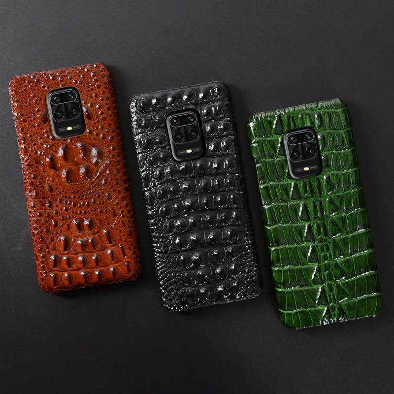 حافظة هاتف من الجلد لهاتف شاومي ريدمي نوت 9 9 S 8 8T 7 K20 K30 Pro Mi 9 se 9T 10 A3 Mix Max 3 Poco F1 X2 نسيج ذيل تمساح